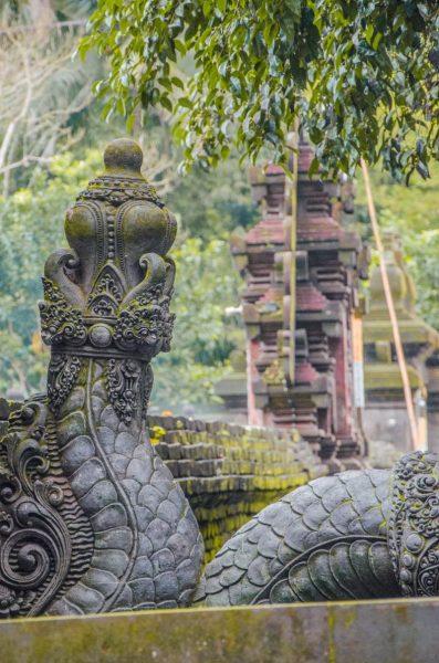 snake statue at Pura Tirta Empul