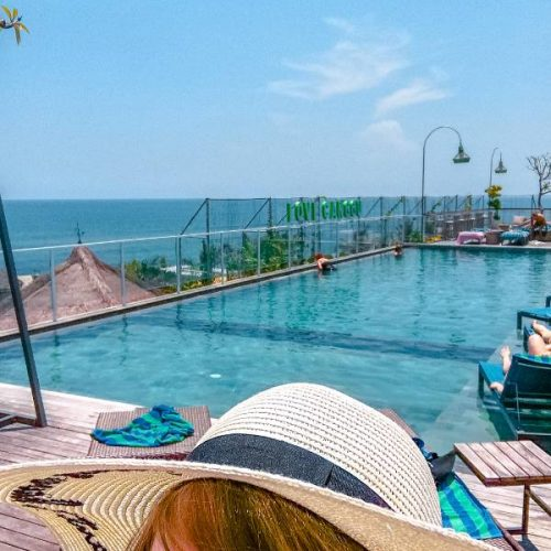 Rooftop pool in Canggu Bali