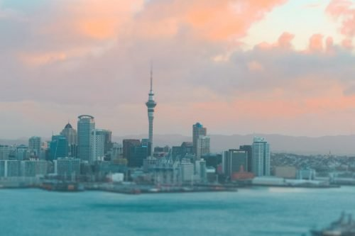 Auckland skyline from Devonport - New Zealand