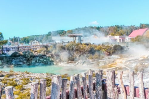 Whakarewarewa, Rotorua in New Zealand