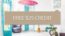 free airbnb voucher and 25 USD credit