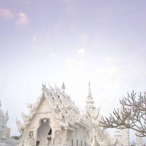 Chiang Rai White TEmple at purple sunrise
