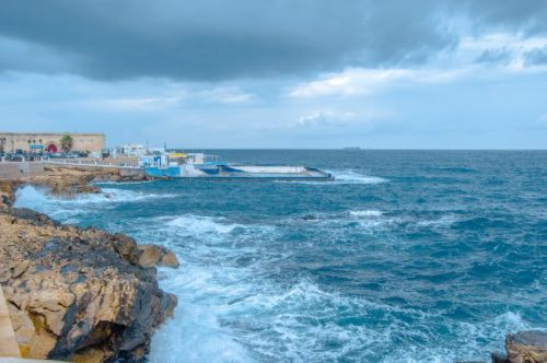 Sliema beach in Malta