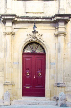 Red door in Tarxien Malta