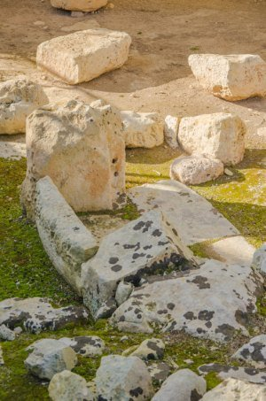 The oldest part of the Tarxien Temples