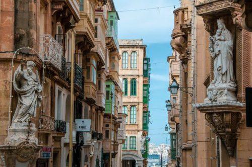 Valletta streets Malta
