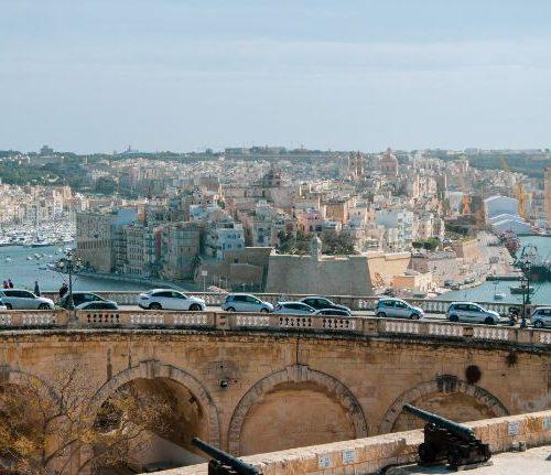 View over to Birgu from Valletta Malta