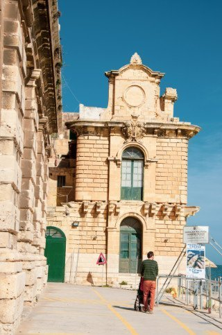 Grand Harbour ferry dock in Valletta Malta