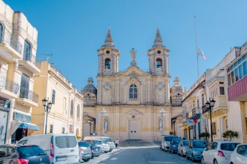 Parish church in Zurrieq Malta