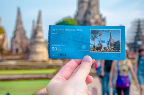 Entry ticket to Wat Chai Watthanaram