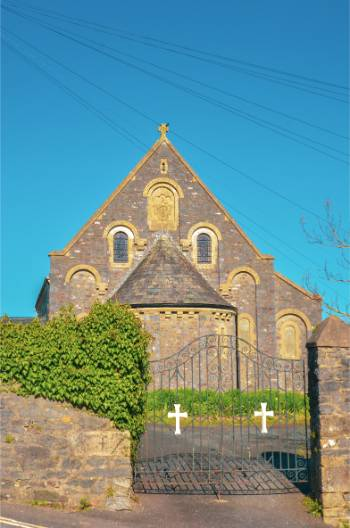 Church in Ashburton, Devon, UK