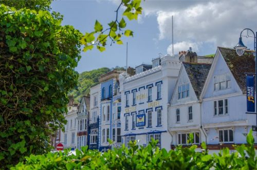 Fairfax Place Road in Dartmouth Devon