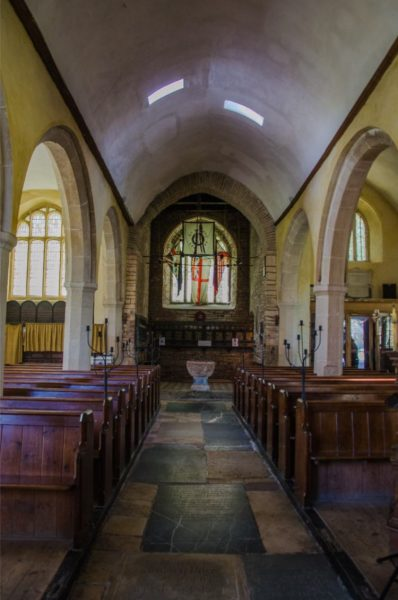 Inside St Petrox Parish Church, Dartmouth Devon
