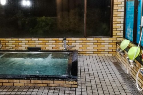onsen in a Japanese hotel