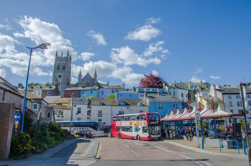 public bus in Brixham, England