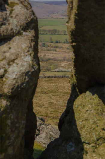gap in Hound Tor rocks
