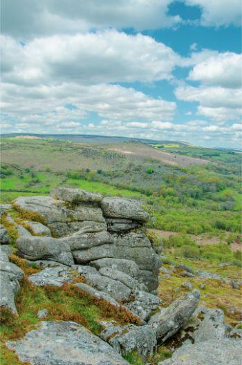 Emsworthy Rocks in Dartmoor, UK