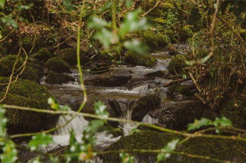waterfall in Dartmoor, Devon