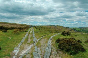 granite railway in Dartmoor