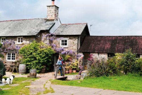 pub in Widecombe in Dartmoor, Devon