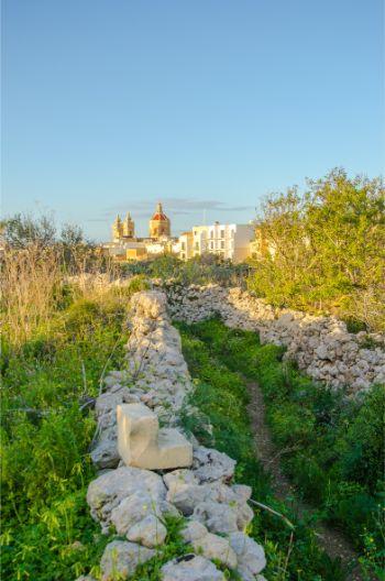ruin in Xaghra underneath a cloudy sky, Gozo, Malta