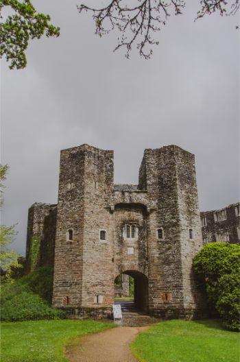 entrance to Berry Pomeroy Castle, Devon, England