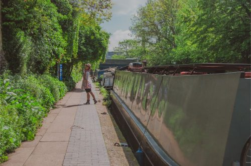 London Canals with house boats