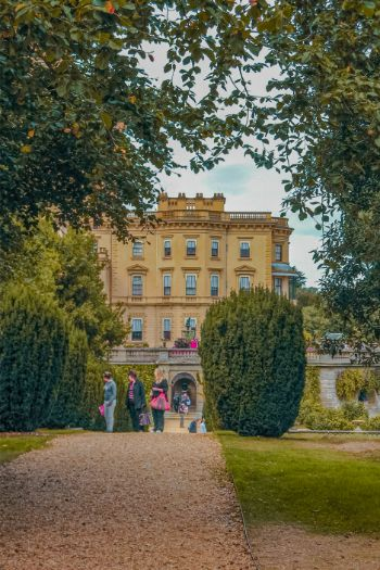Isle of Wight's Osborne House seen through the trees