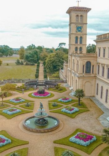 birds eye view of the Osborne House, Isle of Wight