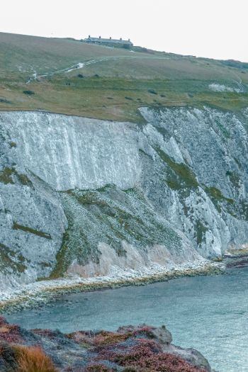 white cliffs at the Isle of Wight
