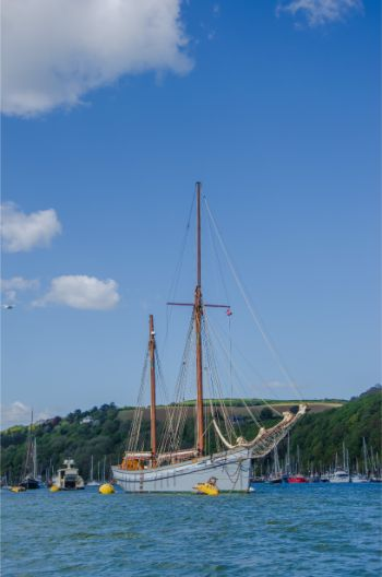 ship in Dartmouth Harbour