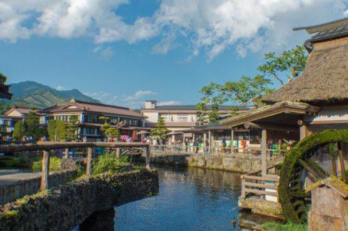 traditional village Oshino Hakkai near Kawaguchiko, Japan