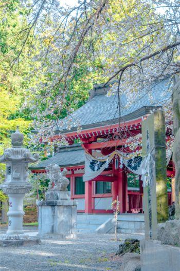 Fujiomurosengen Shrine by Lake Kawaguchi, Japan