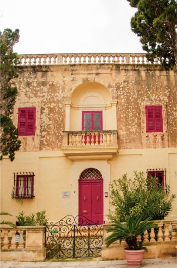 former traders' homes in Mdina, Malta