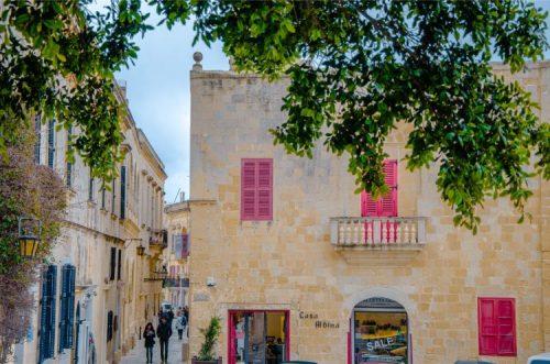 former traders' homes in Mdina, Malta
