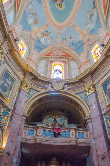 inside St Paul's Cathedral, Mdina, Malta