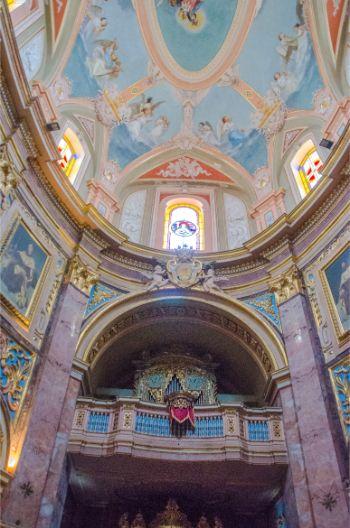 inside St Paul's Cathedral, Mdina, Malta