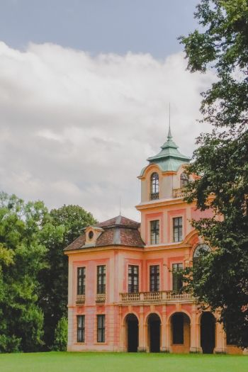Favorite Palace surrounded by trees in Ludwigsburg, Germany