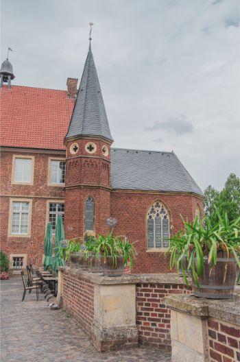 Burg Hülshoff restaurant behind the moat