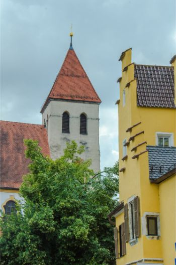 colourful houses in Regensburg, Germany