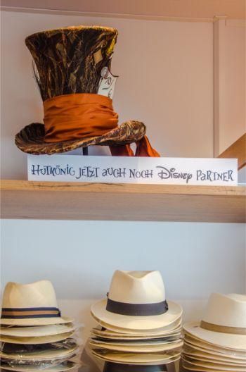 Disney's Mad Hatter hat at Hutkönig in Regensburg, Germany