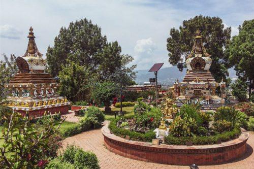 Garden at Kopan Monastery. Photo by Yana Maximova