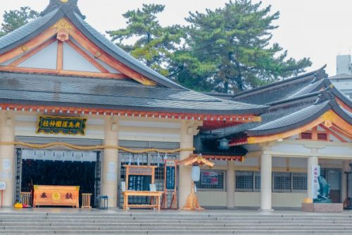 temple in Hiroshima, Japan