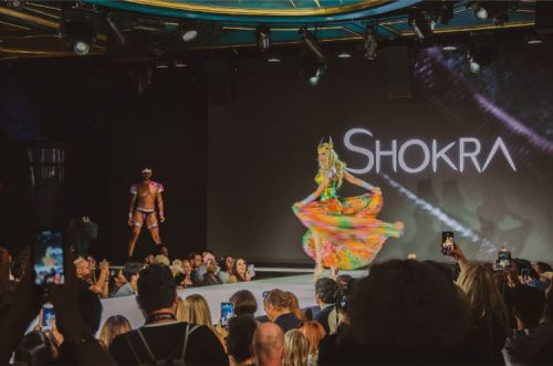 Shokra SS2020 collection in neon colours and with lots of gay pride at NYFW 2019