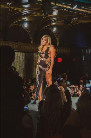 black dress at Augusto Manzanares NYFW 2019