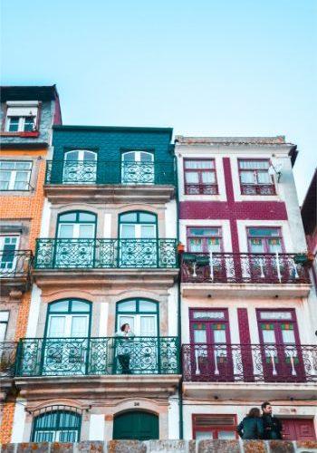 colourful houses in Porto Ribiera