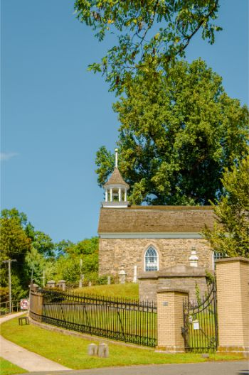 Old Dutch Reformed Church entrance at Sleepy Hollow cemetery NY
