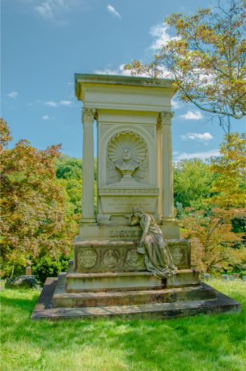memorial at Sleepy Hollow cemetery NY