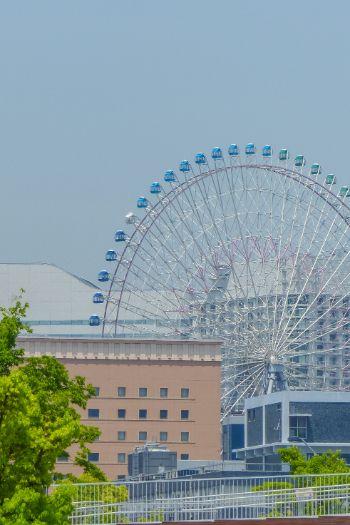 ferris wheel in Yokohama, Japan