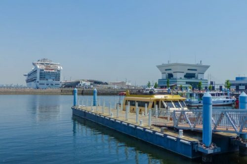 harbour in Yokohama, Japan